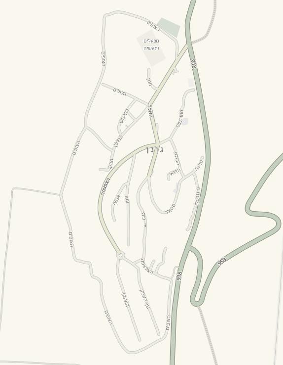 שמות לרחובות בקיבוץ גונן